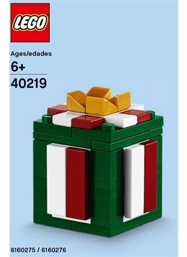 Lego Lego 40219 Şolybag Monthly Mini Model Build Christmas Şresent Renkli
